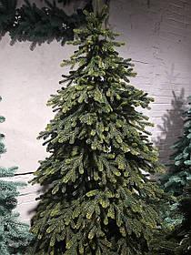 """Искусственная новогодняя зеленая елка с литыми ветками  """"Яскрава"""", высота 2,1 м"""