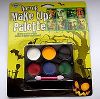 Краска для лица - грим horror Make Up Palette - палитра красок для вашего образа!