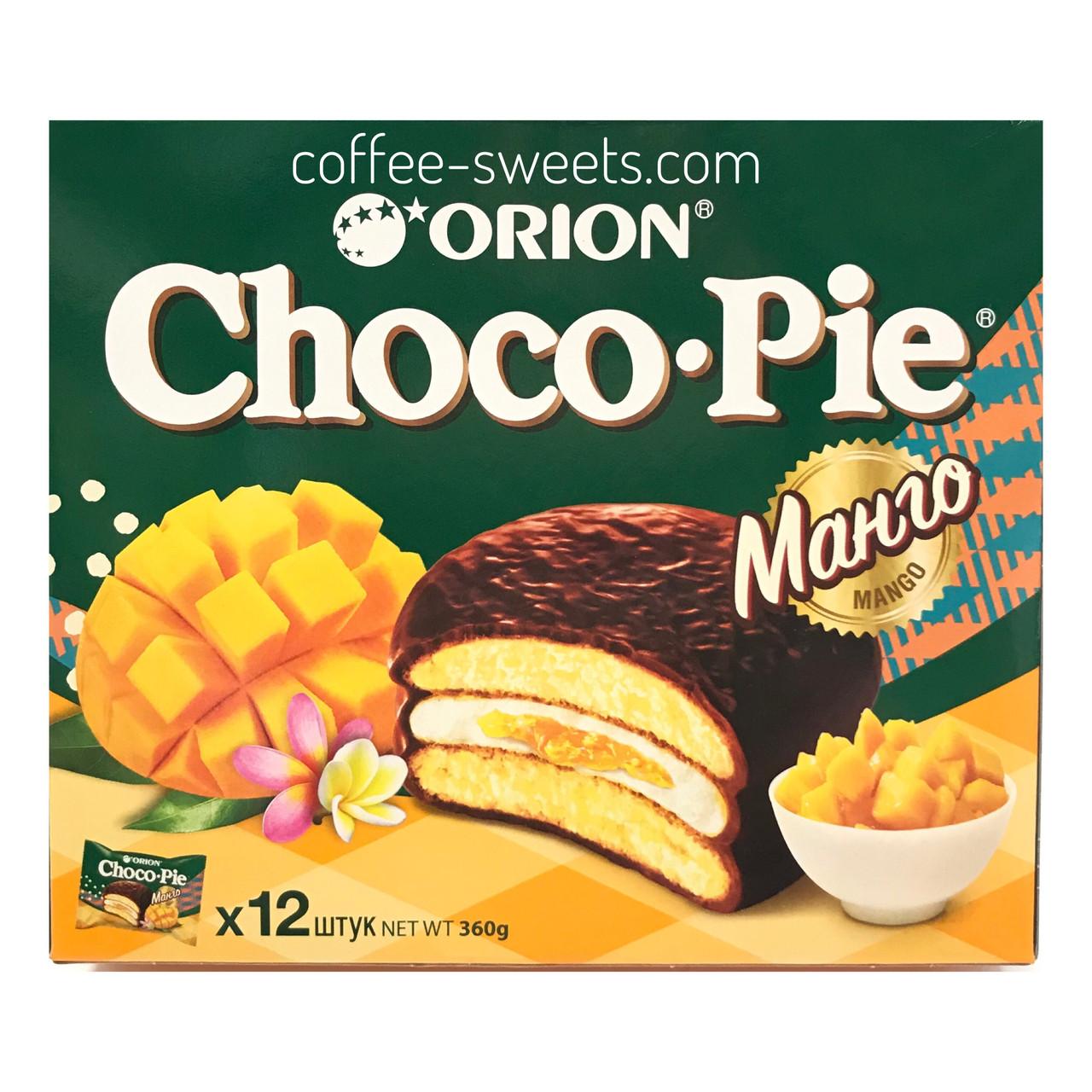 Choco Pie ORION Манго ПЕЧИВО 360 г (12 х 30).