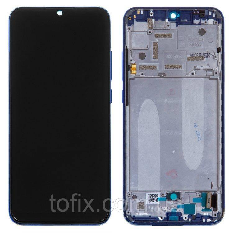 Дисплей для Xiaomi Mi A3 (M1906F9SH, M1906F9SI) модуль (екран, сенсор) з рамкою - панеллю, сервісний оригінал
