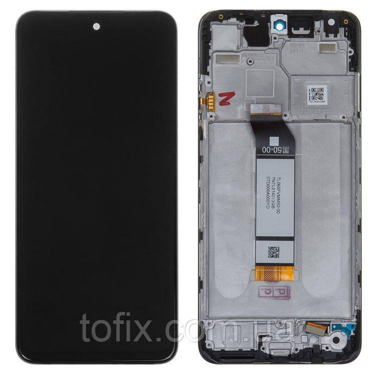 Дисплей для Xiaomi Poco M3 Pro M2103K19PG, модуль (екран, сенсор) з рамкою, сервісний оригінал (560002K19P00)