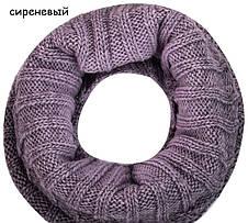Красивый модный комплект шапка и шарф-снуд от Kamea - LUISA., фото 3