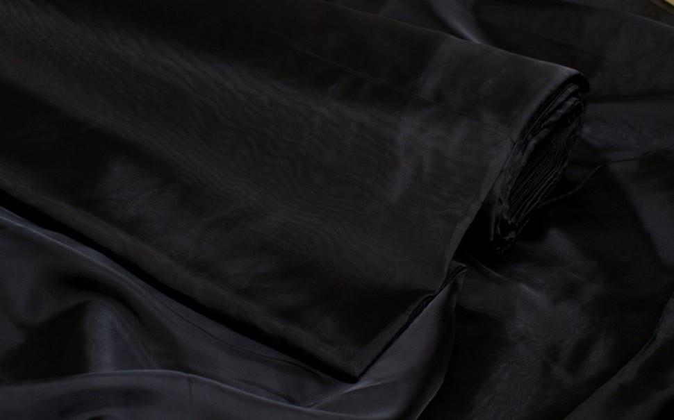 Шторный шифон Черный (вуаль)