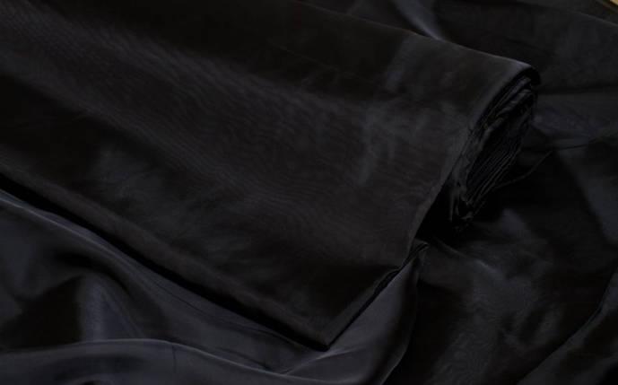 Шторный шифон Черный (вуаль), фото 2