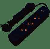 Удлинитель белый 3 гнезда 3м с 2*USB (2100mA) с/з 3x1.0mm макс. 3500W с кнопкой Lemanso / LMK71006