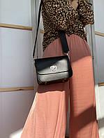 Чорна сумка жіноча з екошкіри FU2х1