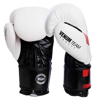 Перчатки для бокса кожаные VENUM COMMANDO на липучке