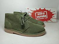 Испанские брендовые замшевые ботинки дезерты