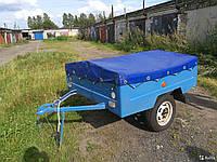 Тент на легковой прицеп МАЗ - 8114 Зубренок 1.60м х 1.50м ПВХ Еврофура