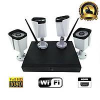 Камера видеонаблюдения 5G KIT WiFi 4 CH IP система камера уличная поворотная цифровая комплект HD 1080P