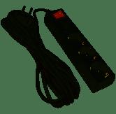 """Удлинитель 3 гн. 5м с 2*USB (2100mA) с/з 3x0.75mm макс 2500W с кнопкой """"LEMANSO"""" LMK71001"""