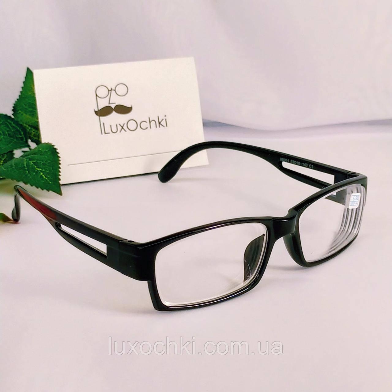 -3.5 Готовые очки для коррекции зрения в пластиковой оправе прямоугольные