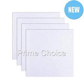 Канва (ткань) для вышивания накладная белая. Вышивка крестом, бисером. Полотно набор 24х25см 10шт для вышивки