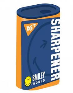 Точилка для карандашей YES пластиковая с контейнером одинарная, Smiley World