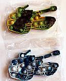 Сенсорна іграшка Pop It Танк антистрес пупырка Поп Іт 17,5х10 см, фото 7