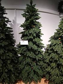 """Искусственная новогодняя зеленая елка с литыми ветками """"Линда с шишкой"""", высота 2,2 м"""