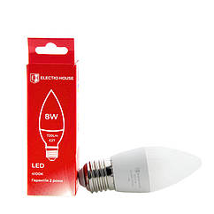 LED лампа свеча E27 8 Вт 4100К