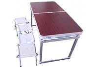 Стол для пикника усиленный с 4 стульями Folding Table (раскладной столик чемодан)