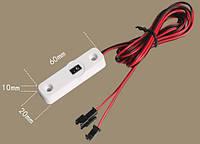Бесконтактный сенсорный выключатель-диммер 5-12В 3А в корпусе с проводами и разъёмами, фото 1
