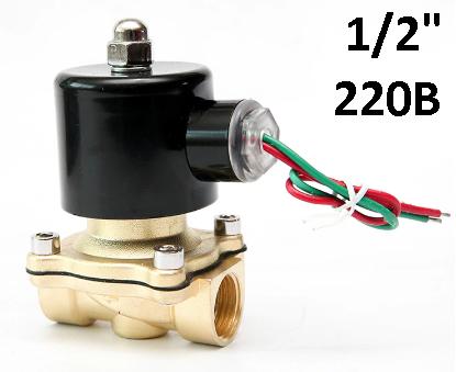 """Електромагнітний клапан 1/2"""" 220В нормально-закритий"""