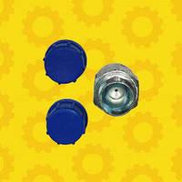 Штуцер соединительный 24 х 24 (S24) (М20х1,5 - М20х1,5) с обратным дроссельным клапаном  1,2мм Імпульс
