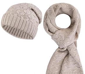 Модний комплект зі стразами (шапка+снуд) Valeri від Kamea., фото 3