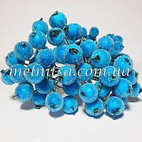 Ягоды для декора, калина в сахаре ,  цвет голубой , 20шт