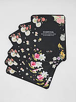 Корейская тканевая маска для лица Eyenlip Oil Moisture Essence Mask Charcoal