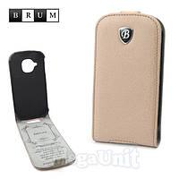 Brum Premium Кожаный чехол для Samsung Galaxy S3 mini i8190 (No.47 apricot)