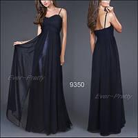 Вечернее платье на тонких брителях, синие S