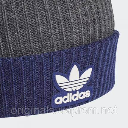 Шапка с помпоном Adidas Adicolor Collegiate H35512 2021/2, фото 2