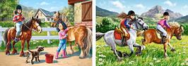Пазлы Castorland 021079 Прогулки на лошадках