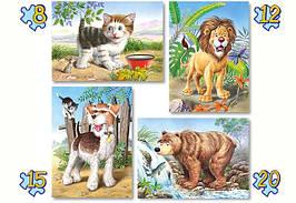 Пазлы Castorland 04041 Животные 20-15-12-8