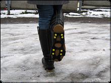 Ледоступы для обуви на 8 шипов (накладки на обувь против скольжения)