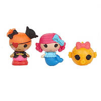 Набор с куклами КРОШКАМИ LALALOOPSY - РУСАЛОЧКА И ПИРАТКА ПЭГГИ (2 куклы, питомец)