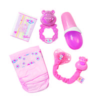 Набор аксессуаров для куклы BABY BORN - НЕЖНЫЙ УХОД (бутыл., подгузн., кашка, погремушка, пустышка)