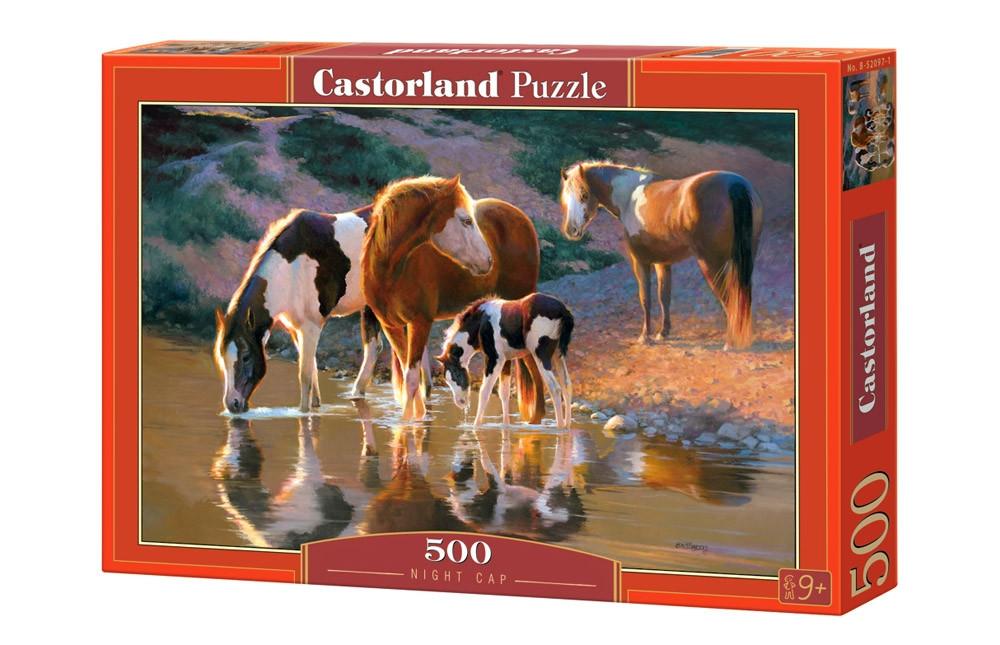 Пазлы 500 элементов Castorland 52097 Лошади у воды