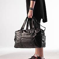 Дорожная сумка из качественной экокожи/Стильный чемодан для путешествий и спорта
