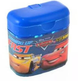 Точилка для карандашей двойная с контейнером, 1 Вересня, Cars