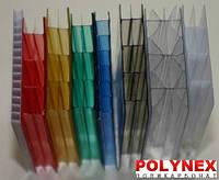 Поликарбонат сотовый POLYNEX 6 мм (прозрачный)