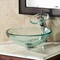 Комплект стеклянный (умывальник  420 мм + смеситель)