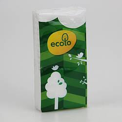 Носові хусточки паперові Ecolo білі 10 шт
