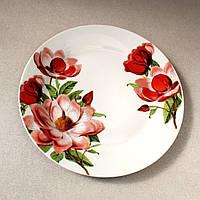 """Тарелка круглая фарфоровая для десертов 17,5 см """"Пион"""" (4363)"""