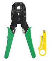 Стриппер обжим витой пары Ou Bao, инструмент для зачистки проводов и кабеля, обжимка rg45   стріппер (TI)  М