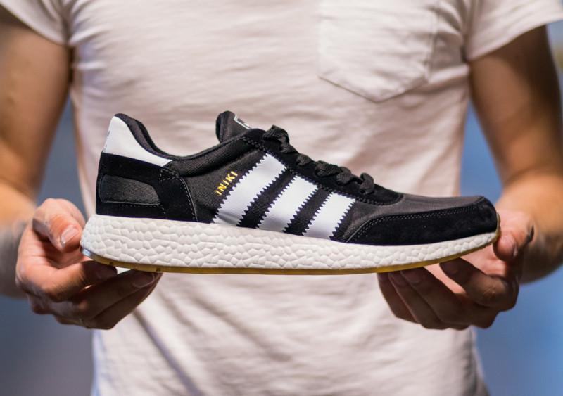 Кроссовки мужские Adidas Iniki Runner Core Black 2.0 Адидас Иники Черные