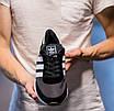 Кроссовки мужские Adidas Iniki Runner Core Black 2.0 Адидас Иники Черные, фото 3