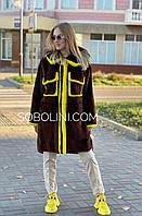 Пальто з хутра норки оверсайз, фото 1