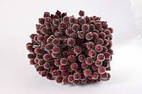 Сахарные ягодки 400 шт/уп. оптом бордового цвета (калина в сахаре), фото 1