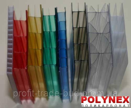 Поликарбонат сотовый POLYNEX 16 мм (цветной) - ООО «ЛАКИ - БУД» в Броварах