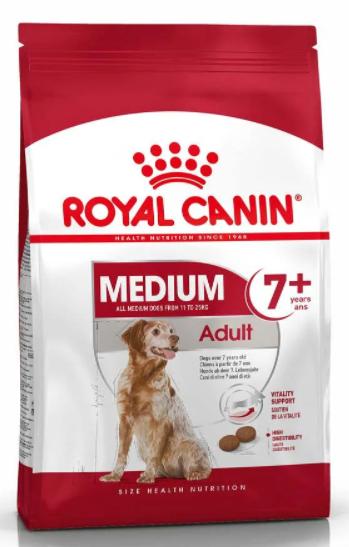 Корм для собак Royal Canin (Роял Канін) MEDIUM ADULT 7+ середні породи старше 7 років, 15 кг